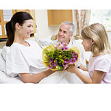 Pflege & Fürsorge, Zusammenhalt, Krankenhaus, Krankenbesuch