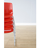 Chair, Stacked, Stacking chair