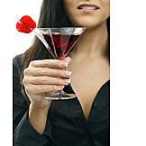 Young Woman, Indulgence & Consumption, Cocktail