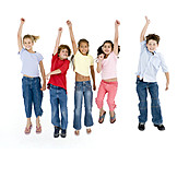 Children group, Jumping, Clique
