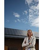 Woman, Alternative Energy, Photovoltaic System