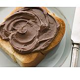 Bread, Chocolate cream, Hazelnut spread