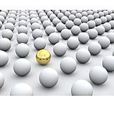 Individualität & Einzigartigkeit, Kugel, Goldkugel