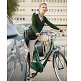 Young woman, Cycling, Road traffic, Cycling women