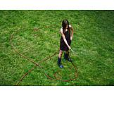 Heart shaped, Watering, Garden hose