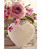 Love, Heart, Flower arrangements