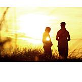 Teenager, Friendship, Summer, Silhouette