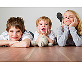 Boy, Girl, Portrait, Siblings