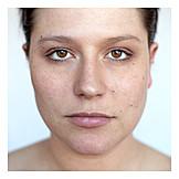 Young Woman, Woman, Natural, Face, Unvarnished, Portrait, Closeup