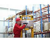 Logistics, Scanning, Warehouse clerk