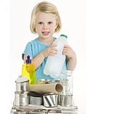Toddler, Recycling, Waste separation