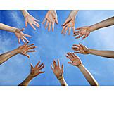 Togetherness, Hand, Team Spirit, Ritual