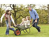 Fun & Happiness, Family, Wheelbarrow