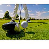 Golf Ball, Tee Box, Golfing