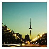 Berlin, Television tower, Road traffic