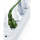 Energy, Ecologically, Ecology, Power Cable, Multiple Plug