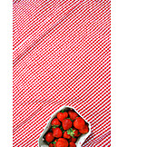 Tablecloth, Strawberries, Strawberry bowl