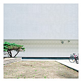 Architecture, Bicycle, House wall