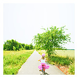 Girl, Cycling, Bicycle tour