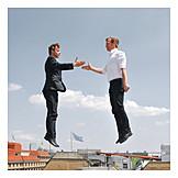 Businessman, Handshake, Business partnership