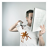 Make a mess, Stunned, Shocked, Reading newspaper
