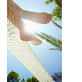 Holiday & Travel, Sun, Barefoot, Feet, Hammock