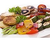 Gemüse, Gemüseplatte, Grillgemüse