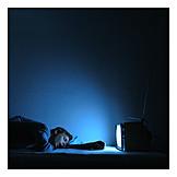 Man, Tv night, Sleeping