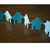 House, Row house, Silhouette