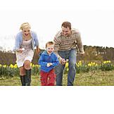 Family, Easter tradition, Egg run