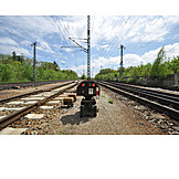 Railway, Railroad tracks, Stop signal