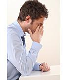 Man, Businessman, Exhaustion, Stress & Struggle, Burnout