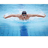 Sports & Fitness, Swim, Swimmer, Swimming, Butterfly