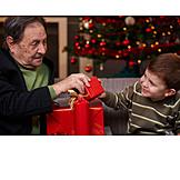 Grandfather, Christmas, Christmas eve, Grandchild