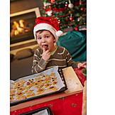 Boy, Sweets, Christmas cookies