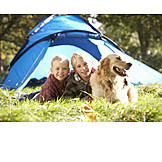 Family dog, Family vacations, Camping