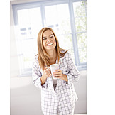 Young woman, Joy, Coffee time