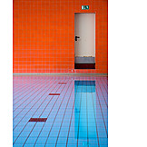 Swimming pool, Fire escape, Indoor swimming pool