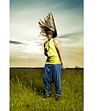 Young Woman, Individuality & Uniqueness, Fluttering Hair