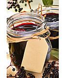 Elder berry, Marmalade, Jar