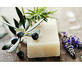 Natural cosmetics, Olive soap, Piece of soap