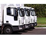 Truck, Parking lot