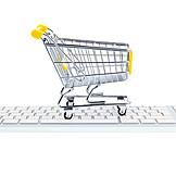 Cart, Home shopping, Online shopping