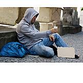 Soziales, Betteln, Obdachloser
