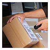 Scanning, Parcel service