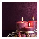 Candle, Christmas decoration, Candlelight