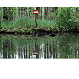 Spree forest, Road closed, Channel marker