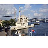 Mosque, Bosphorus, Istanbul, Bosphorus bridge, Ortaköy mosque