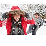 Couple, Fun & Happiness, Winter