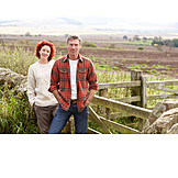 Couple, Farmer, Rural scene